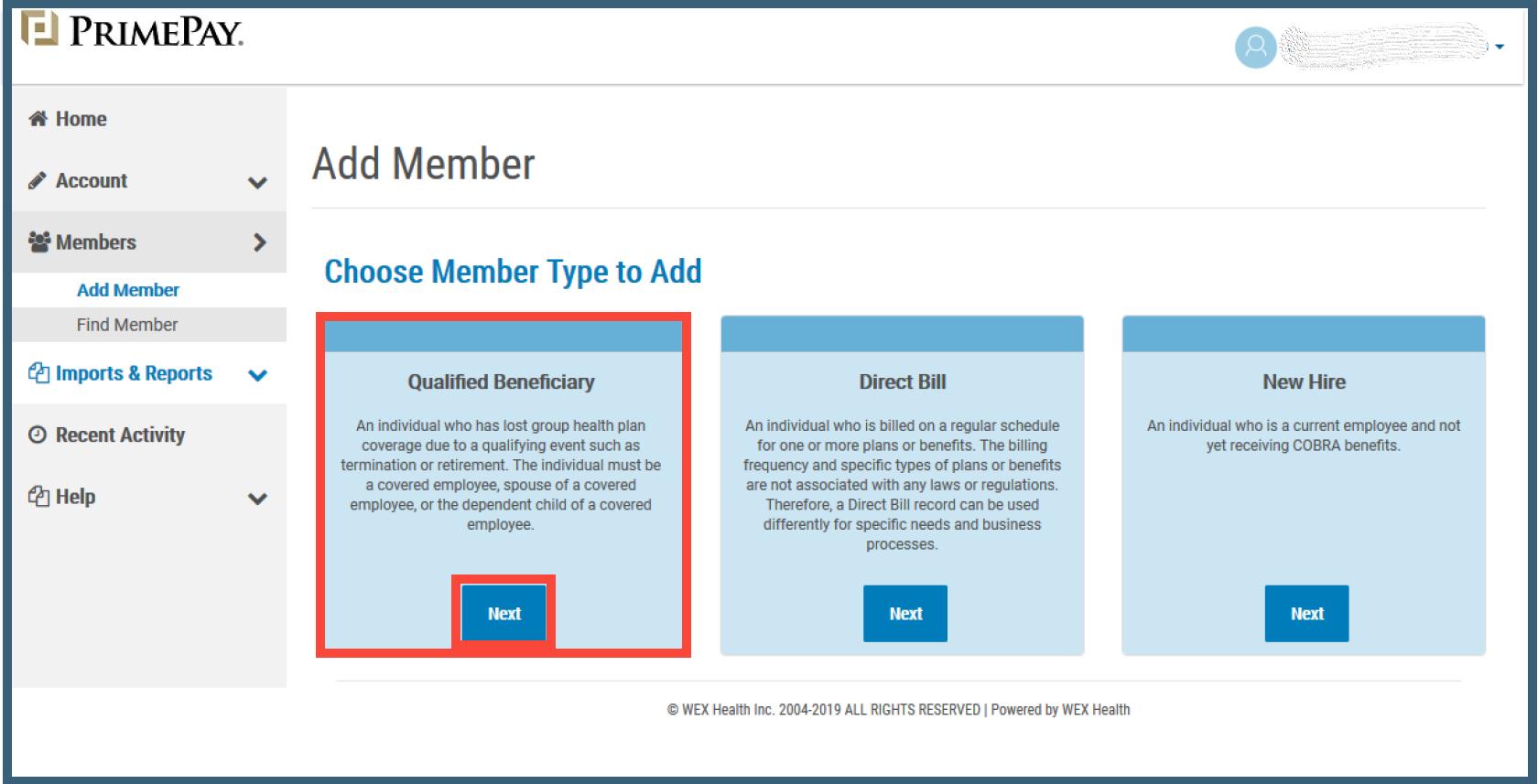 COBRA] Adding a Qualifying Event (QE)